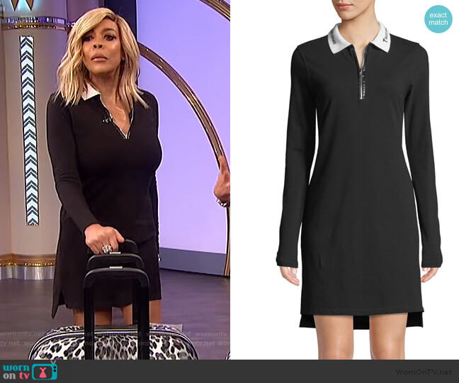 Quarter Zip Polo Dress by T by Alexander Wang worn by Wendy Williams  on The Wendy Williams Show
