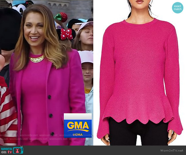 Bobbe Sweater by Ted Baker worn by Ginger Zee  on Good Morning America