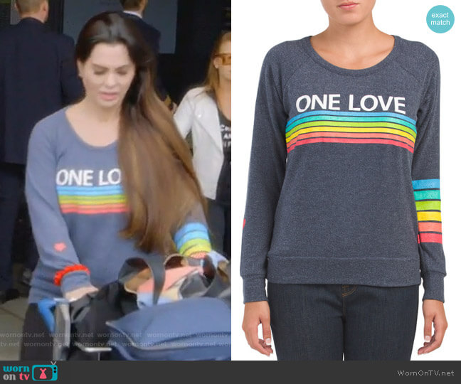 One Love Top by Chaser worn by D'Andra Simmons  on The Real Housewives of Dallas