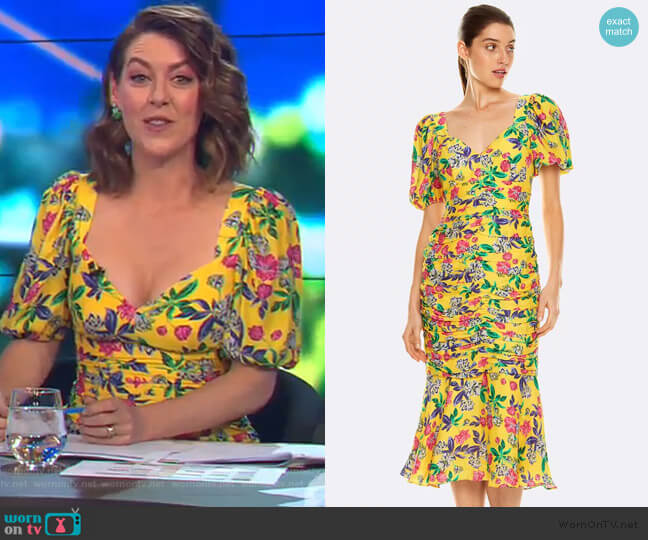 Finch Midi Dress by Talulah worn by Gorgi Coghlan  on The Project