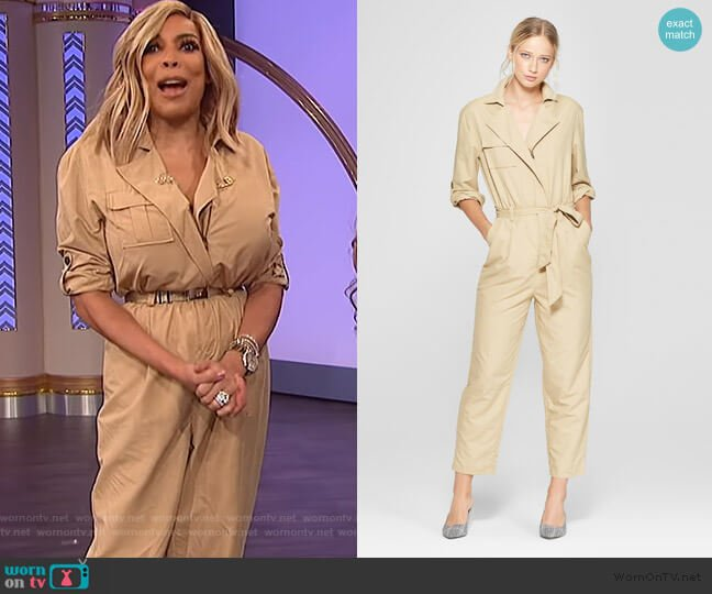 Long Sleeve Utility Jumpsuit by Who What Wear at Target worn by Wendy Williams  on The Wendy Williams Show