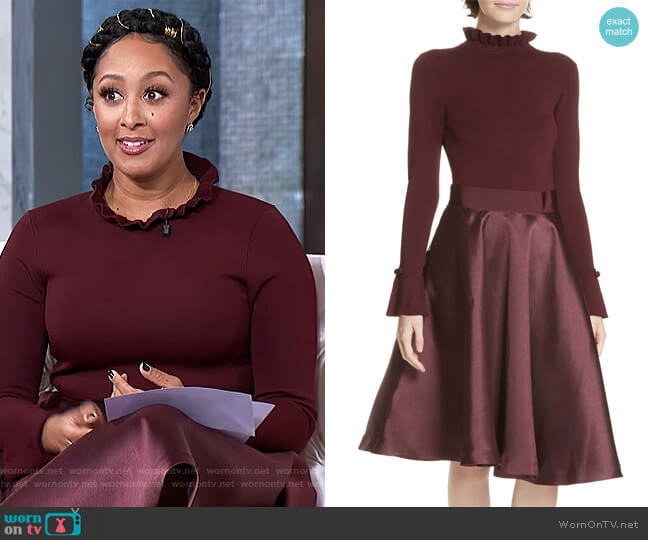 Zadi Fit & Flare Dress by Ted Baker worn by Tamera Mowry (Tamera Mowry) on The Real
