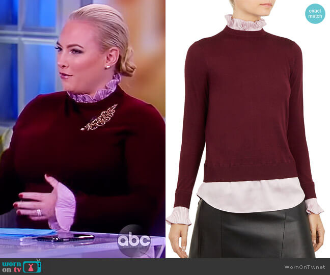 Kaarina Layered-Look Sweater by Ted Baker worn by Meghan McCain  on The View