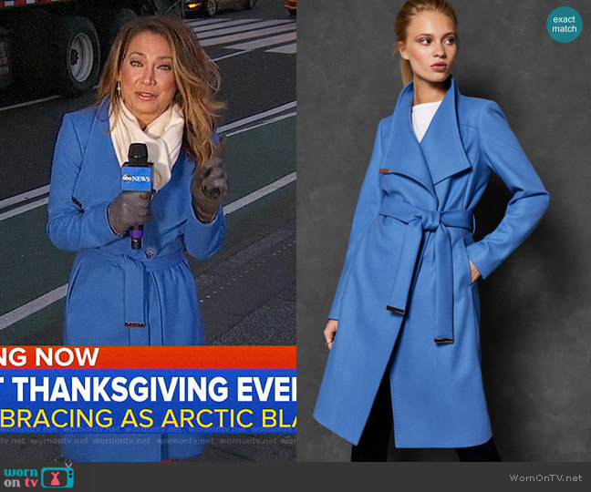 Sandra Coat by Ted Baker worn by Ginger Zee  on Good Morning America