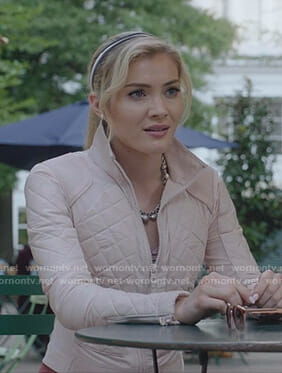 The Frost Sisters' pink quilted jacket on The Gifted