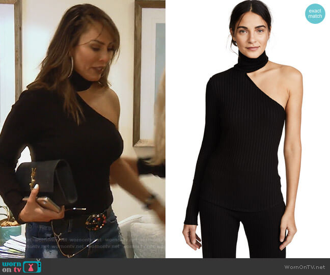 Bare Arm Turtleneck by The Range worn by Kelly Dodd (Kelly Dodd) on The Real Housewives of Orange County