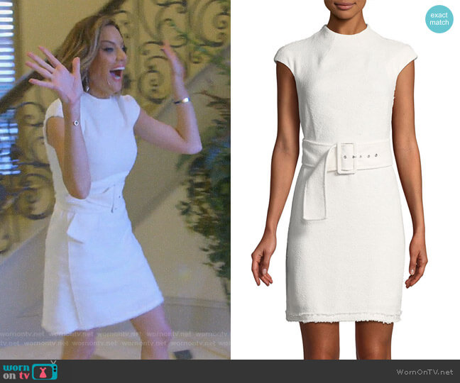 Mod Belted A-Line Dress by Theory worn by Cary Deuber  on The Real Housewives of Dallas