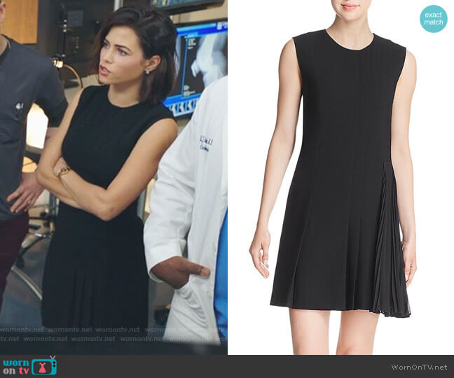 Pleat-Detail Day Dress by Theory worn by Julian Booth (Jenna Dewan) on The Resident