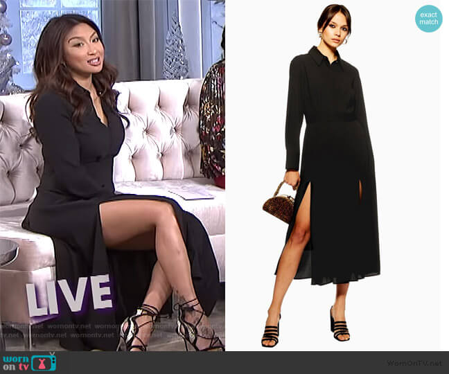 Pleated Midi Shirt Dress by Topshop worn by Jeannie Mai  on The Real
