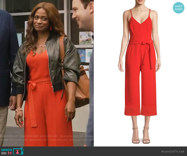 California Dreaming Cloud Jumpsuit by Trina Turk worn by Poppy (Kimrie Lewis) on Single Parents