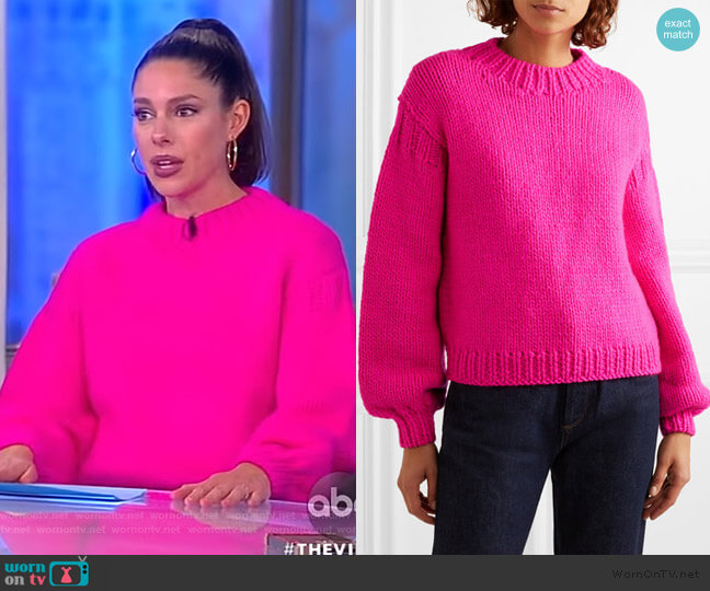 Merino wool sweater by Ulla Johnson worn by Abby Huntsman  on The View