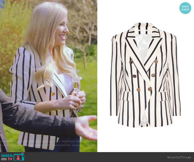 Empire Blazer by Veronica Beard worn by Stephanie Hollman (Stephanie Hollman) on The Real Housewives of Dallas