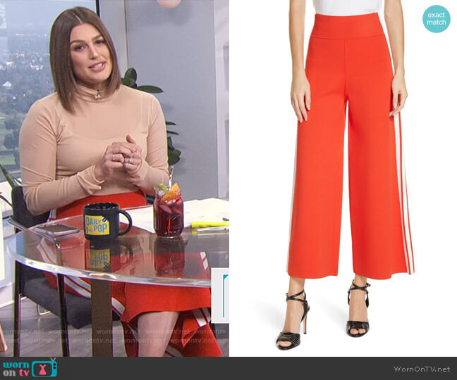 Roland Pants by Veronica Beard worn by Carissa Loethen Culiner (Carissa Loethen Culiner) on E! News