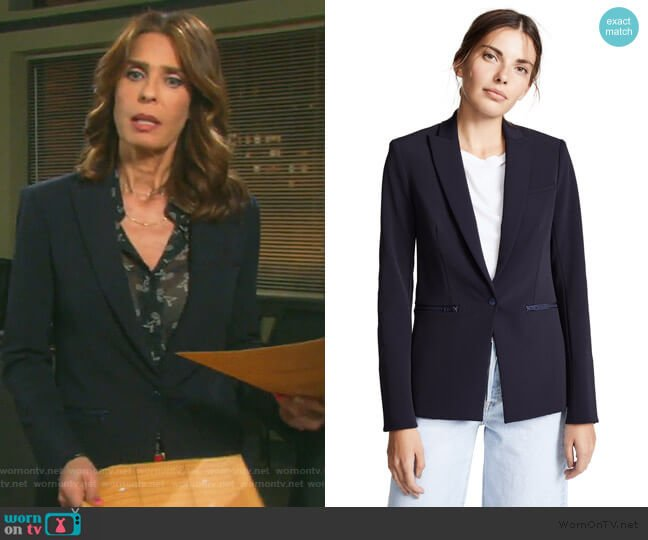 Scuba Jacket by Veronica Beard worn by Hope Williams (Kristian Alfonso) on Days of our Lives
