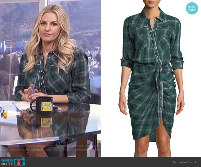 Sierra Shirtdress by Veronica Beard worn by Morgan Stewart  on E! News