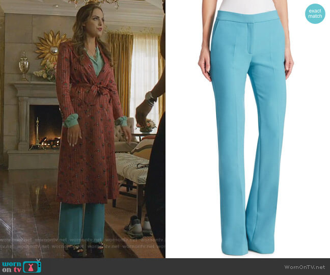 Triple-Stitch Flared Pants by Victoria Victoria Beckham worn by Fallon Carrington (Elizabeth Gillies) on Dynasty