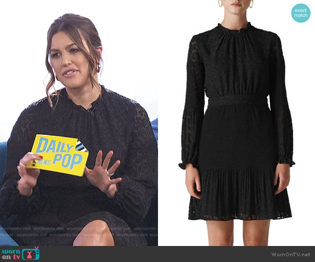 Animal Devoré Pleated Dress by Whistles worn by Carissa Loethen Culiner  on E! News