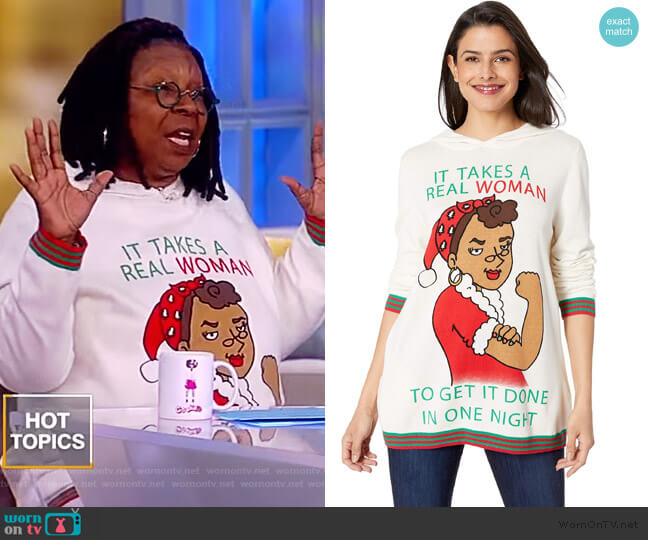 It Takes A Real Woman Sweater by Whoopi worn by Whoopi Goldberg  on The View
