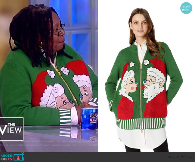 WornOnTV: Whoopi's Green Christmas Sweater On The View