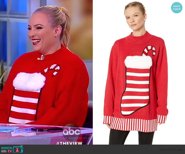 Stocking Stuffer Sweater by Whoopi worn by Meghan McCain  on The View