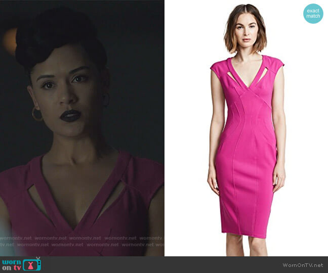 Joni Dress by Zac Posen worn by Reeva Payge (Grace Byers) on The Gifted