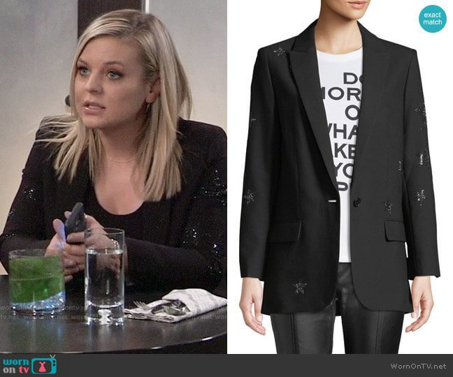 Zadig & Voltaire Viva Star Blazer worn by Maxie Jones (Kirsten Storms) on General Hospital