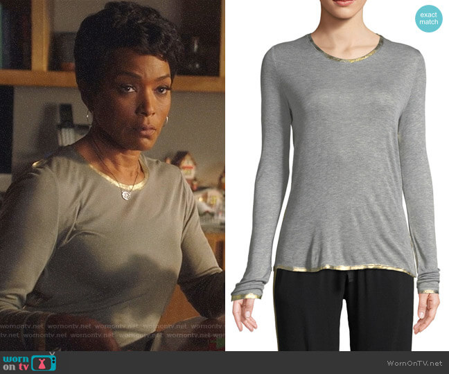 Willy Top by Zadig & Voltaire worn by Athena Grant (Angela Bassett) on 9-1-1