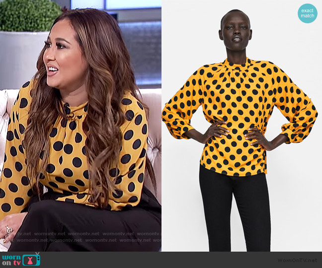 Polka-dot Blouse by Zara worn by Adrienne Houghton  on The Real