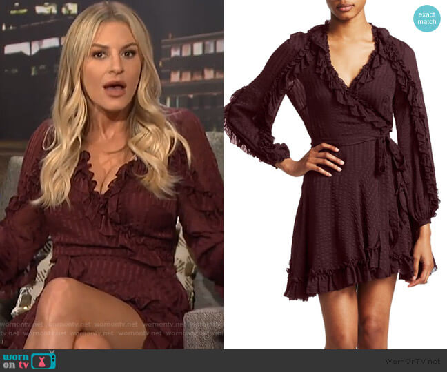 Cascade Ruffle Wrap Dress by Zimmermann worn by Morgan Stewart  on E! News