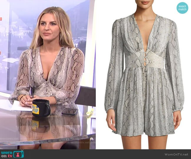 Corsage Romper by Zimmermann worn by Morgan Stewart (Morgan Stewart) on E! News