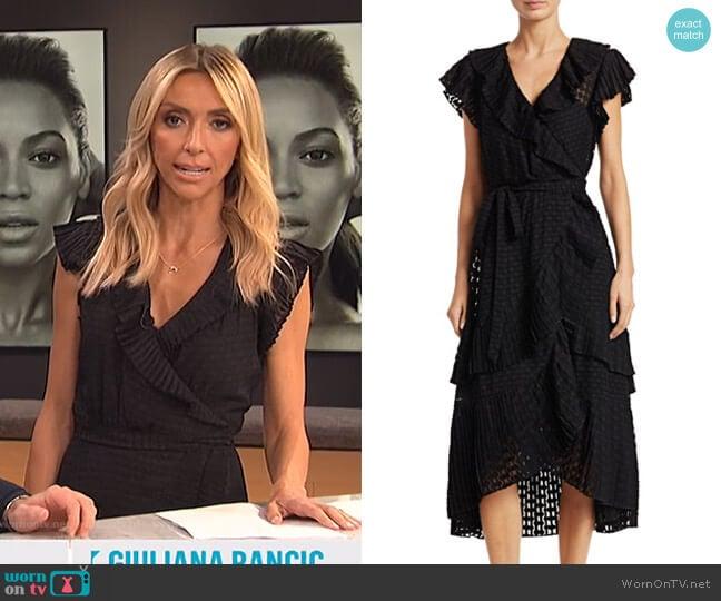 Plisse Dot Wrap Dress by Zimmermann worn by Giuliana Rancic  on E! News