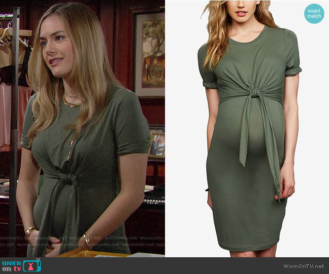 A Pea in the Pod Maternity Tie-Front Dress worn by Hope Logan (Annika Noelle) on The Bold & the Beautiful