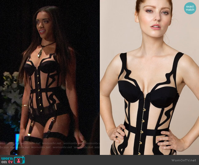 Agent Provocateur Soni Corset worn by Zoe (Kiara Barnes) on The Bold & the Beautiful