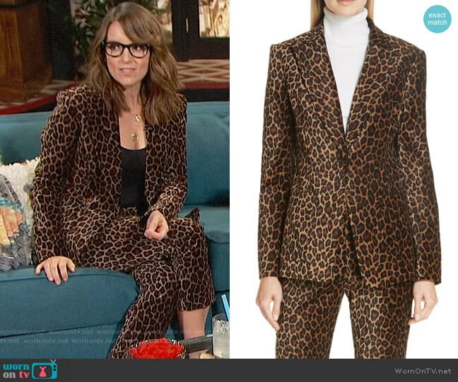 ALC Mercer Blazer worn by Tina Fey on Busy Tonight worn by Busy Philipps  on Busy Tonight