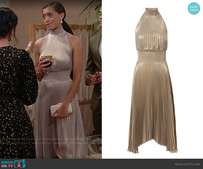 ALC Renzo Dress worn by Zoe (Kiara Barnes) on The Bold & the Beautiful