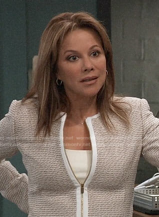 Alexis's beige tweed jacket on General Hospital