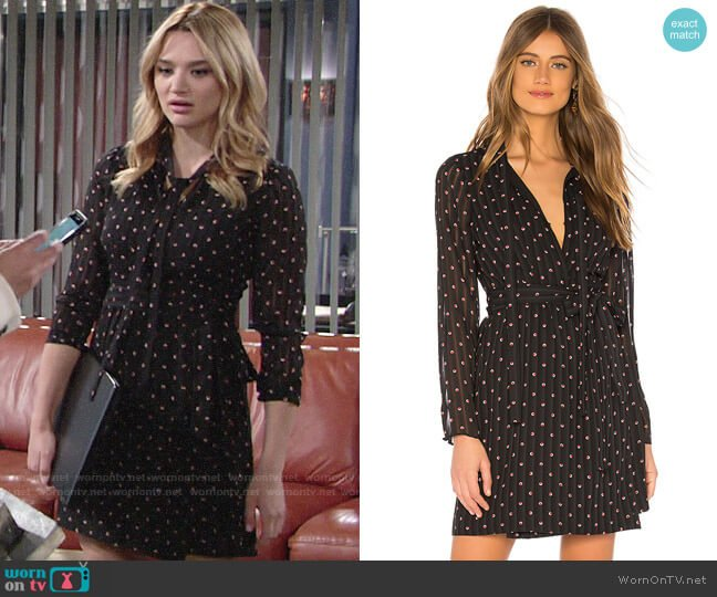 Alexis Leila Dress worn by Summer Newman (Hunter King) on The Young & the Restless