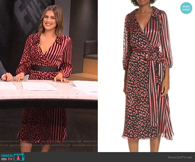 Carissa's striped and leopard print dress on E! News