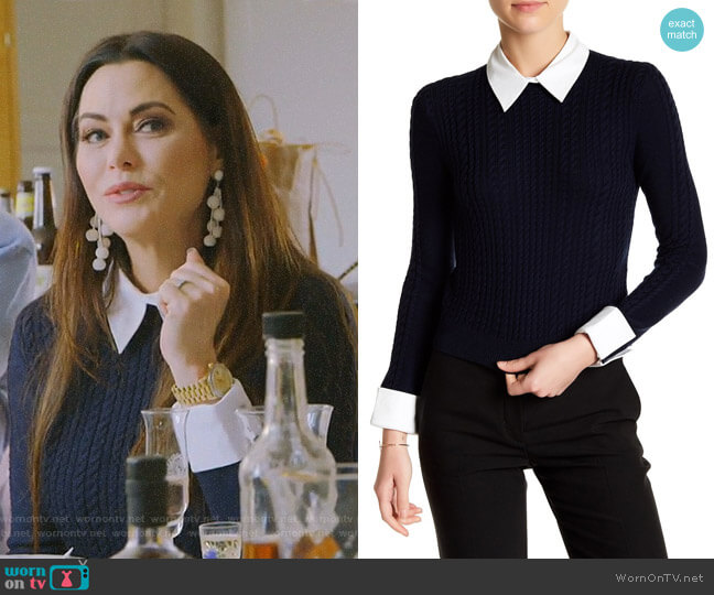 Gila Sweater by Alice + Olivia worn by D'Andra Simmons  on The Real Housewives of Dallas