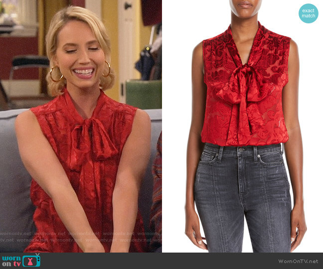Alice + Olivia Arie Blouse worn by Mandy Baxter (Molly McCook) on Last Man Standing