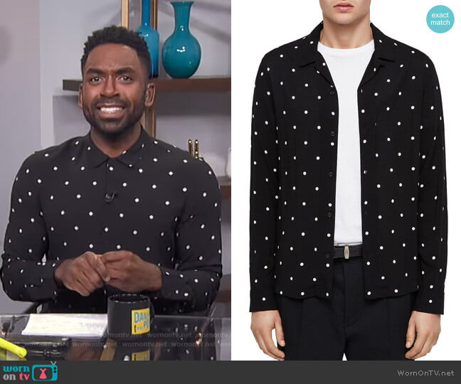 Kuta Shirt by All Saints worn by Justin Sylvester  on E! News