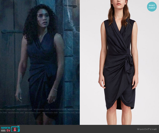 All Saints Cancity Dress worn by Jordan Ashford (Briana Nicole Henry) on General Hospital