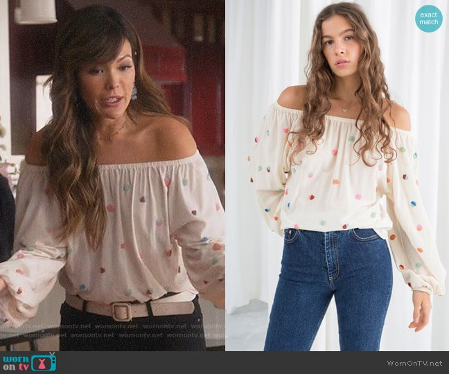 Billowy Blouse by & Other Stories worn by Camille (Lindsay Price) on Splitting Up Together