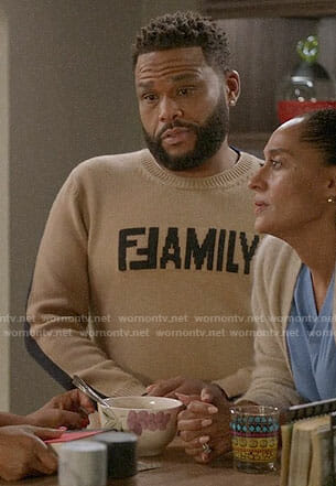 Andre's FAMILY sweater on Black-ish