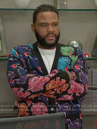 Andre's rainbow tiger cardigan on Black-ish