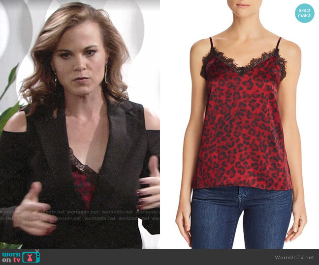 Anine Bing Printed Silk Camisole Top worn by Phyllis Newman (Gina Tognoni) on The Young & the Restless