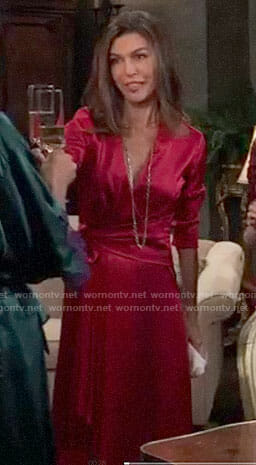 Anna's pink wrap dress on General Hospital