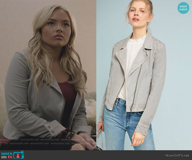 Easy Moto Jacket by Anthropologie worn by Natalie Alyn Lind on The Gifted