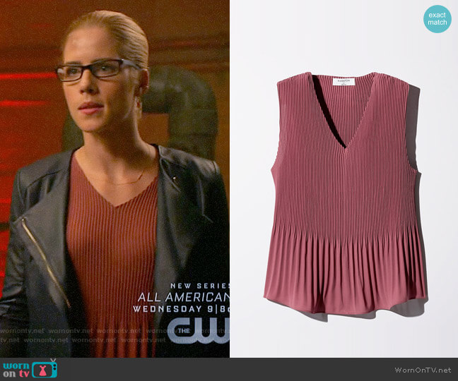 Babaton Damien Blouse worn by Emily Bett Rickards on Arrow