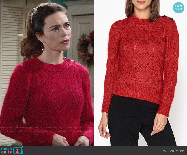 BA&SH Numa Sweater worn by Victoria Newman (Amelia Heinle) on The Young & the Restless